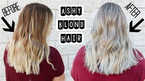 ashy blonde hair babylights  smudge roots youtube