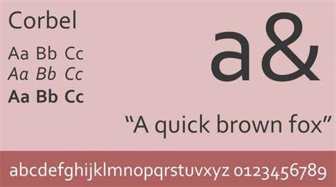 Corbel Font Free by Corbel Font Free