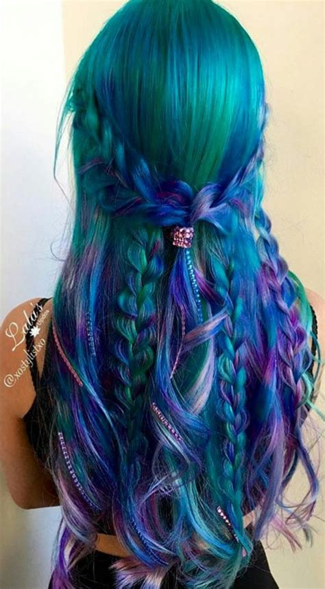 Hair With Blue by 20 Balayage And Ombre Mermaid Hair Ideas To Rock Styleoholic