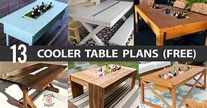 13 DIY Cooler Table Plans to Build for Outdoor Beer