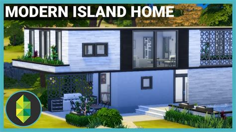 modern island home  sims  house build youtube