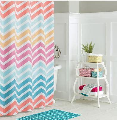 kohl s chevron stripe shower curtain 8 bath rug 5 60