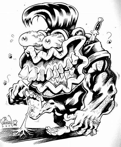 Rat Fink Monster Weird Drawing Drawings Cartoon