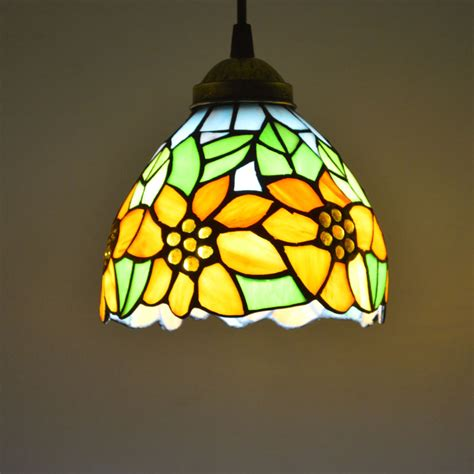 tiffany style lava l tiffany pendant light stained glass sunflower country