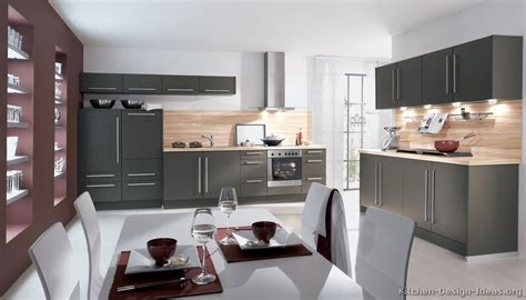 pictures  kitchens modern gray kitchen cabinets