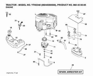 Husqvarna Yth2348  960450005  Ride On Mower Engine Spare
