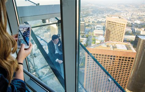 Us Bank Tower Observation Deck Slide by Skyspace La Wilshire Grand Sky Lobby 71 Above