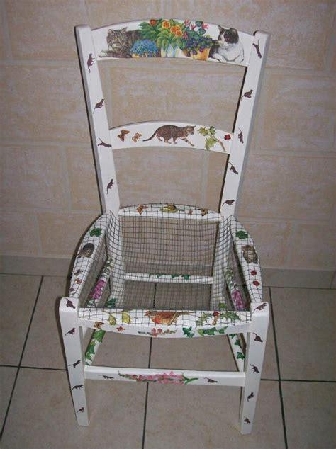chaise porte serviette chaise porte fleur aux motifs à chats créations