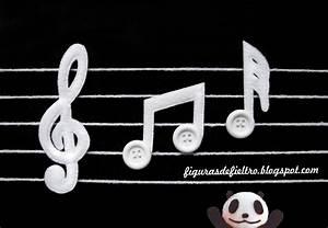 FIGUAR : FIGURAS DE FIELTRO ARTESANALES PERSONALIZADAS: Notas musicales ♫ ♪ ♪ Ref: 094