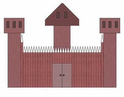 Fort Clipart Wooden Clip Forts Castle Tower