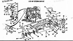 Omc Sterndrive Parts 120hp Oem Parts Diagram For Cooling System Group 120 Hp Stern Drive