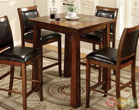living iv tobacco oak counter height dining set with
