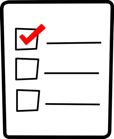 Checklist Clipart Check List Clip At Clker Vector Clip
