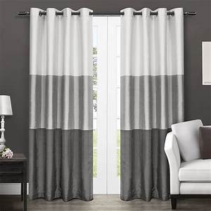 Amazon com: Exclusive Home Chateau Striped Faux Silk