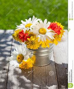 Fresh Garden Flower Bouquet Stock Image - Image of ...