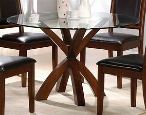 Kitchen dining round glass table for small dining room for Round glass dining room tables and chairs
