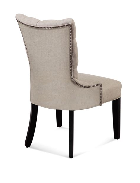 parsons dining chairs with nailheads fortnum tufted nailhead parsons chair linen
