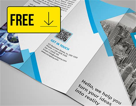 Free Tri Fold Brochure Template Downloads by Free Tri Fold Brochure Template On Behance