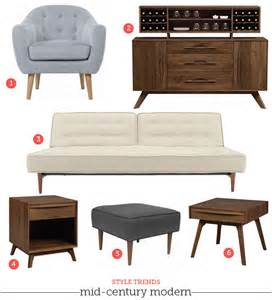 mad style mid century modern furniture living room