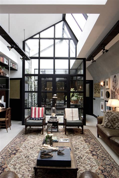 A Studio Loft Which Is A Home And Gallery by Garage Loft Bricks Studio
