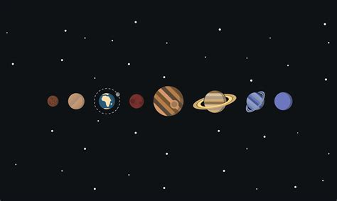 Solar System Minimalism, Hd Artist, 4k Wallpapers, Images