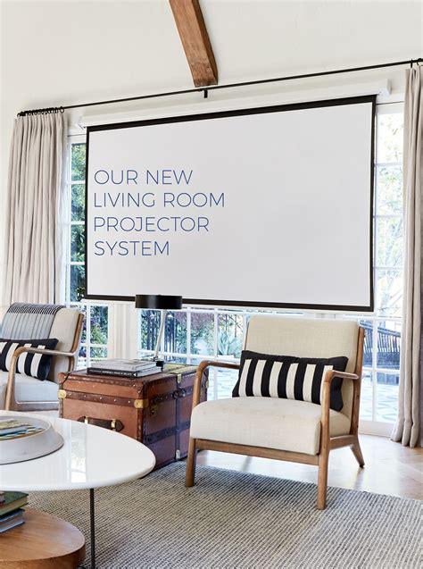 hidden living room projector system