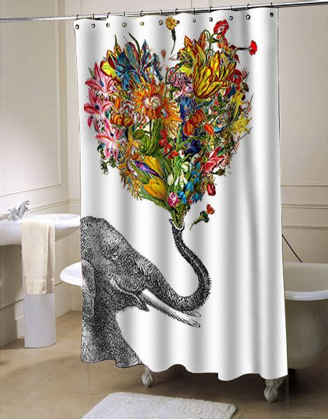elephant shower curtain the happy elephant shower curtain myshowercurtains