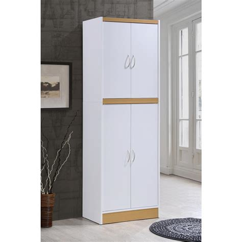 4 Door Kitchen Pantry White Hodedah 4 Door White Kitchen Pantry Hi224 White The Home