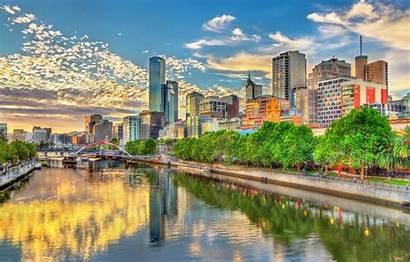 Melbourne Australia Yarra River Hdr Sky Building
