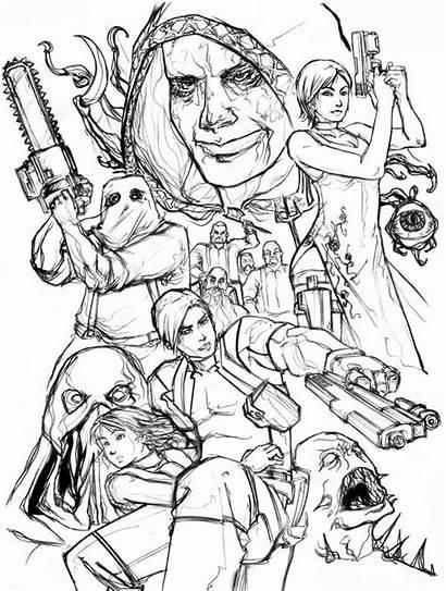 Resident Evil Coloring Leon Desenhos Colorir Anime