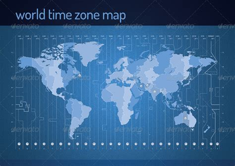 time zone vector map restart graphicriver