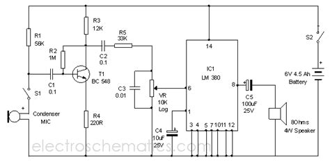 Classroom Microphone System Circuit