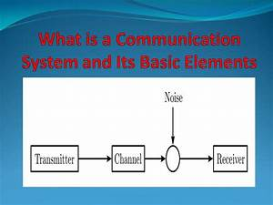 Communication System  Basic Elements And Its Applications