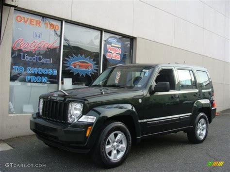 dark green jeep liberty 2010 natural green pearl jeep liberty sport 4x4 76389521