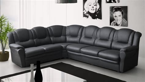 Big Corner Sofa by Big Corner Sofa Black Faux Leather Ebay