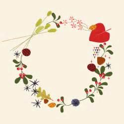 Vintage Christmas Wreath Clip Art