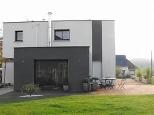 maison contemporaine paul pichard With couleur de fa ade moderne