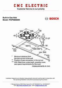 Bosch Pop6b6b80 Built-in Gas Hob - Cmc Electric