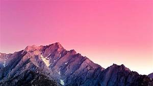 Mountains, In, Pink, Background, Hd, Macbook, Wallpapers