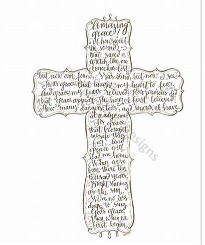 Cross Grace Amazing Printable Drawn Hand Outline
