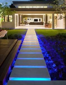 Außentreppen Beleuchtung Led : coole wohnideen f r moderne au entreppe mit beleuchtung ~ Sanjose-hotels-ca.com Haus und Dekorationen