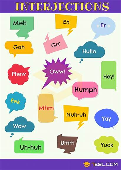 Interjections Interjection English Examples Definition Grammar 7esl