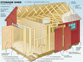 10 215 16 gable storage shed plans blueprints for crafting a