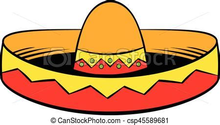 sombrero icon cartoon sombrero icon  cartoon style isolated vector illustration