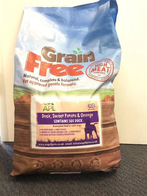 grain  dog food angell pets  friendliest pet