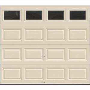 clopay value series 8 ft x 7 ft non insulated almond With 8 ft insulated garage door