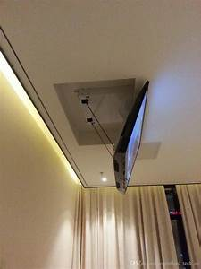 Eversion Motorized Electric Ceiling Led Lcd Tv Lift Mount Hanger Holder Remote Control Function