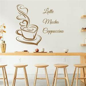 Popular cafe interior design buy cheap cafe interior for What kind of paint to use on kitchen cabinets for vinyl wall art stickers
