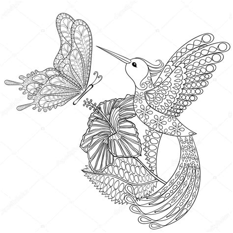 Hummingbird Coloring Pages For Adults Coloring Pages