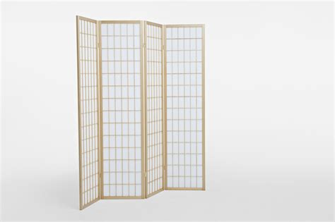 Solid Timber Wooden Natural Panel Fold Screen Room Divider